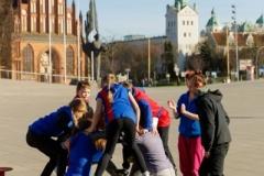 26.03.2017 Szczecin pl.Solidarności Polsko-Niemieckie cyrkowe zajęcia. Fot.Robert Stachnik