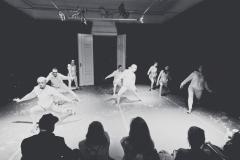 "22.09.2018 Szczecin 13 Muz Premiera nowego spektaklu Teatru Tańca Kiosk Ruchu ""Kurs makijażu"".  Fot. Robert Stachnik"