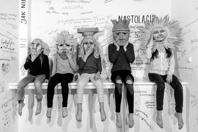 17.02.20178 Szczecin Promocja przedstawienia w maskach. Fot.Robert Stachnik